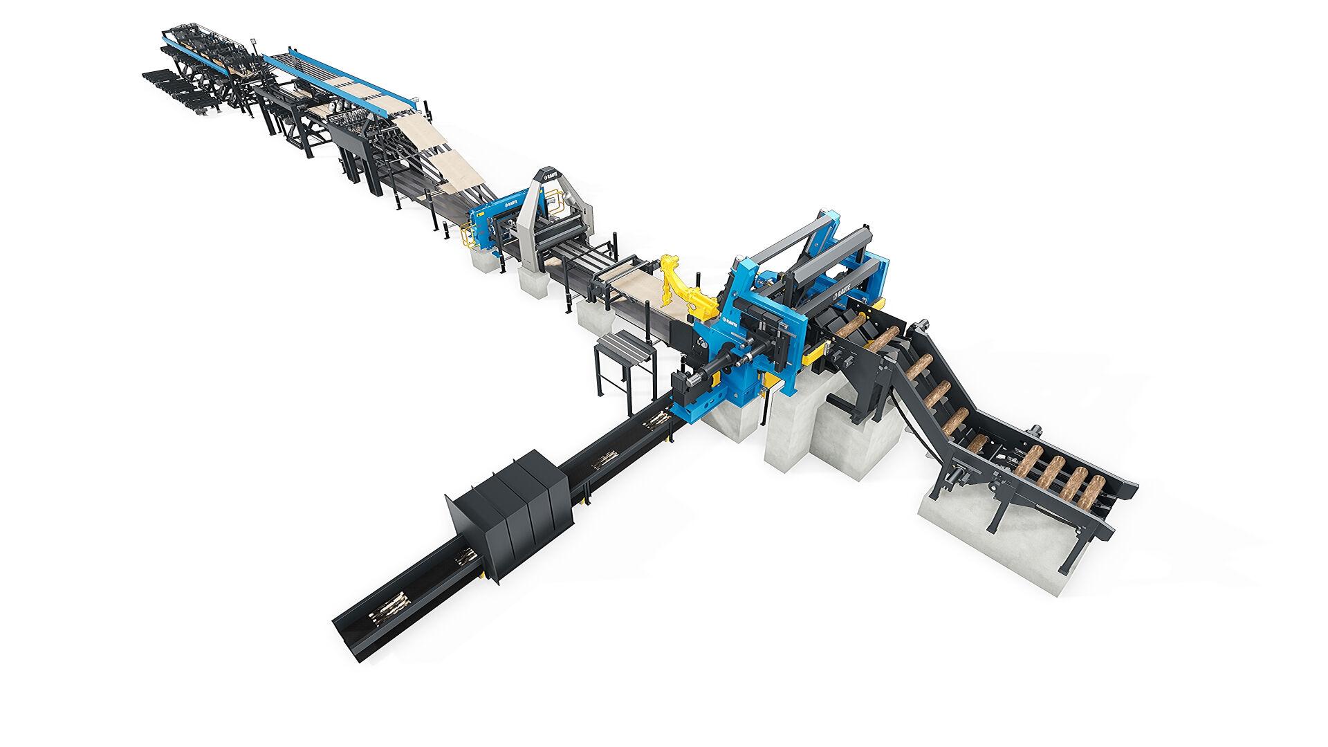 Veneer Peeling Line R7-Hybrid