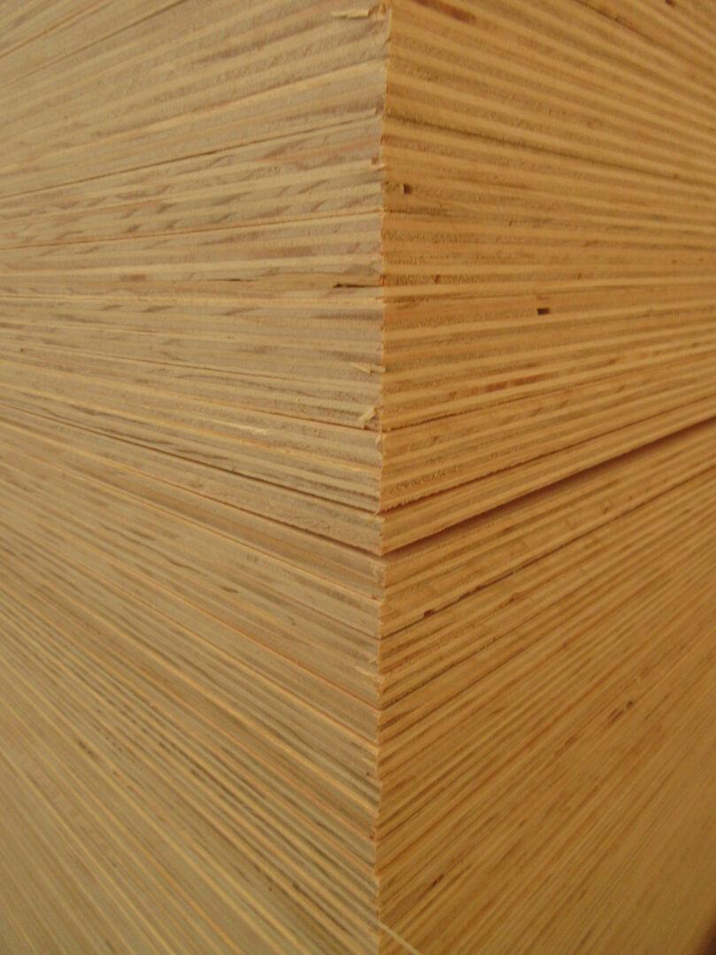 Stack of Radiata Pine plywood