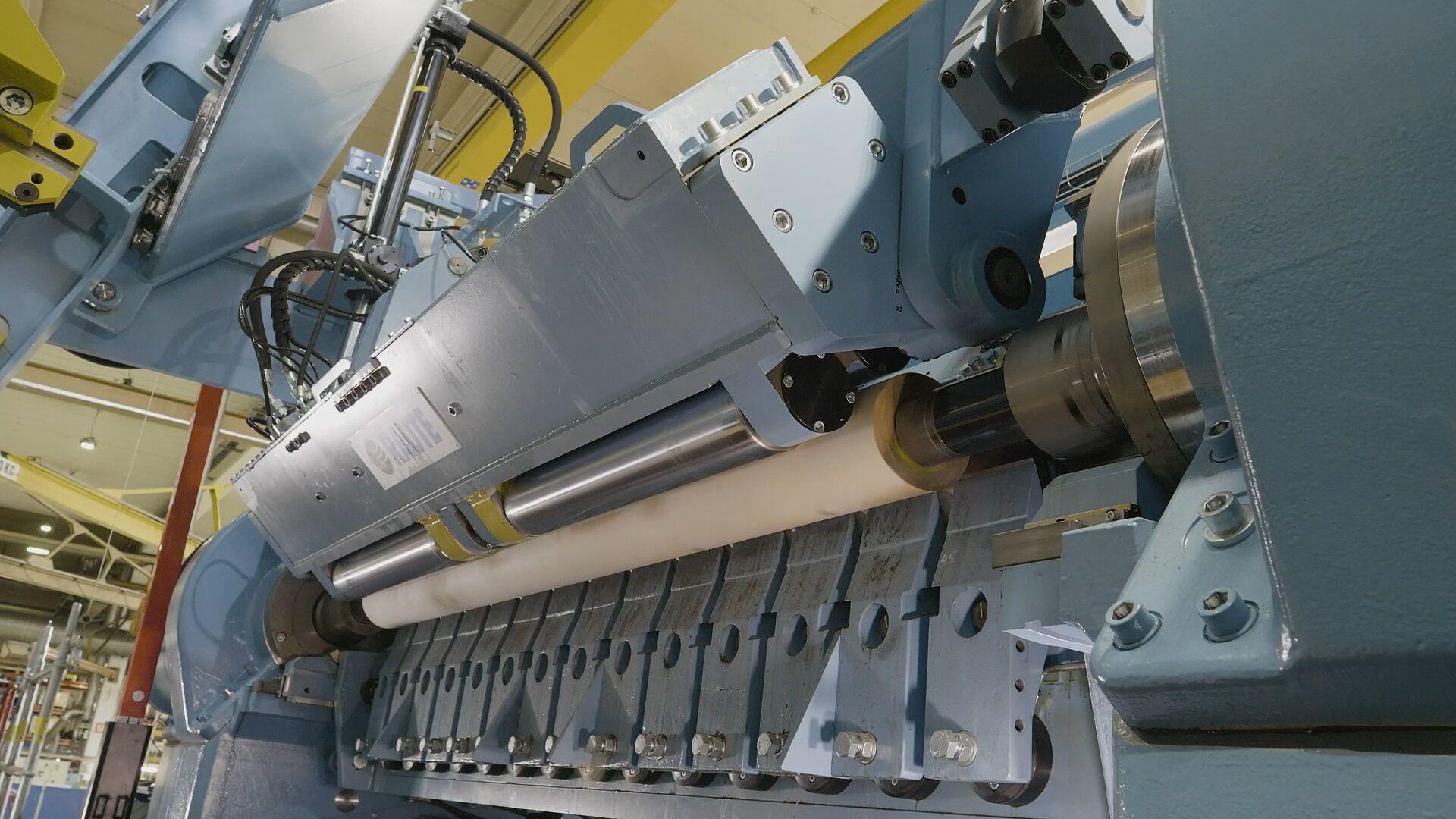 车床的最佳旋切几何形状 (OPG) 确保获得从表板到木芯的高质量单板。
