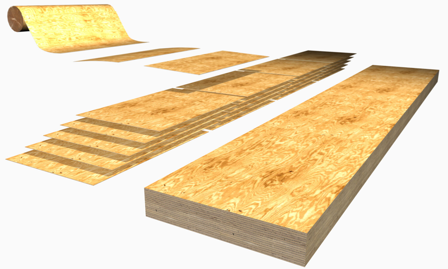LVL, or Laminated Veneer Lumber, is a dimensionally very stable and straight wood product constructed from veneer sheets that have been glued together.