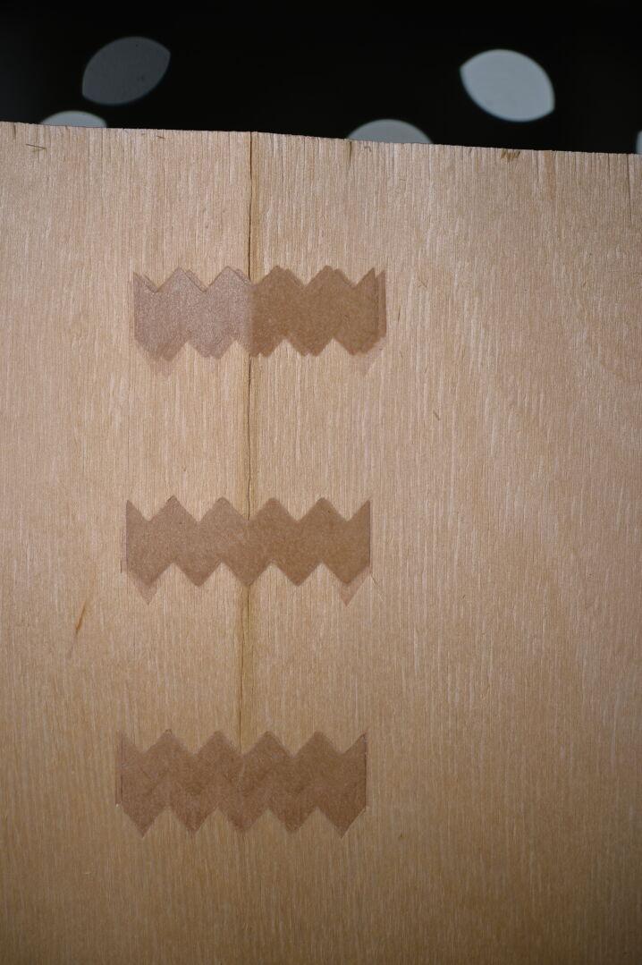 Taped veneer
