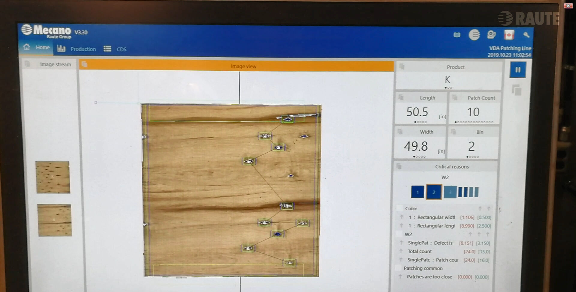 Latest Raute vision system detects patchable defects and grades veneer at the same time