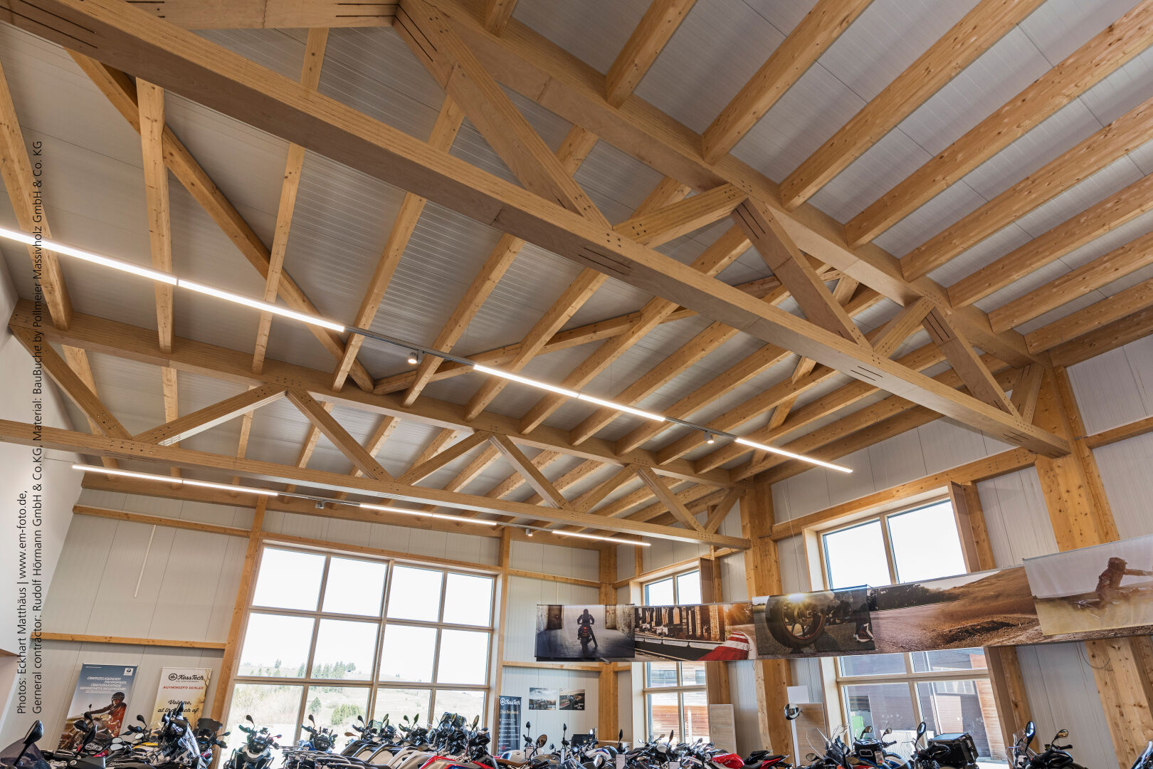 The new sales and showroom building for a motorbike dealership in Oy-Mittelberg